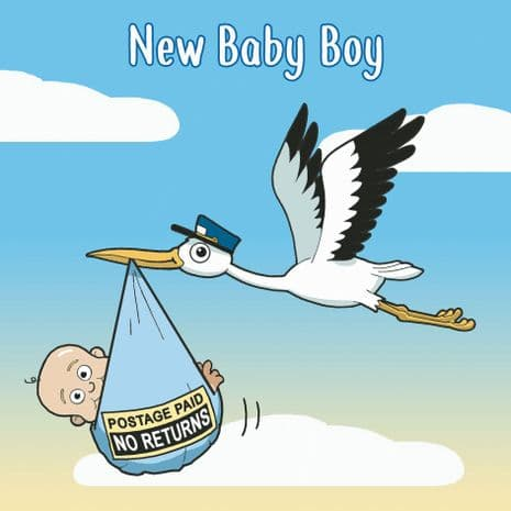 Funny New Baby Cards. Funny New Baby Boy Cards. Funny New Baby Girl Cards. Funny Gender Neutral New Baby Cards. Humorous Greeting Cards. Twizler.